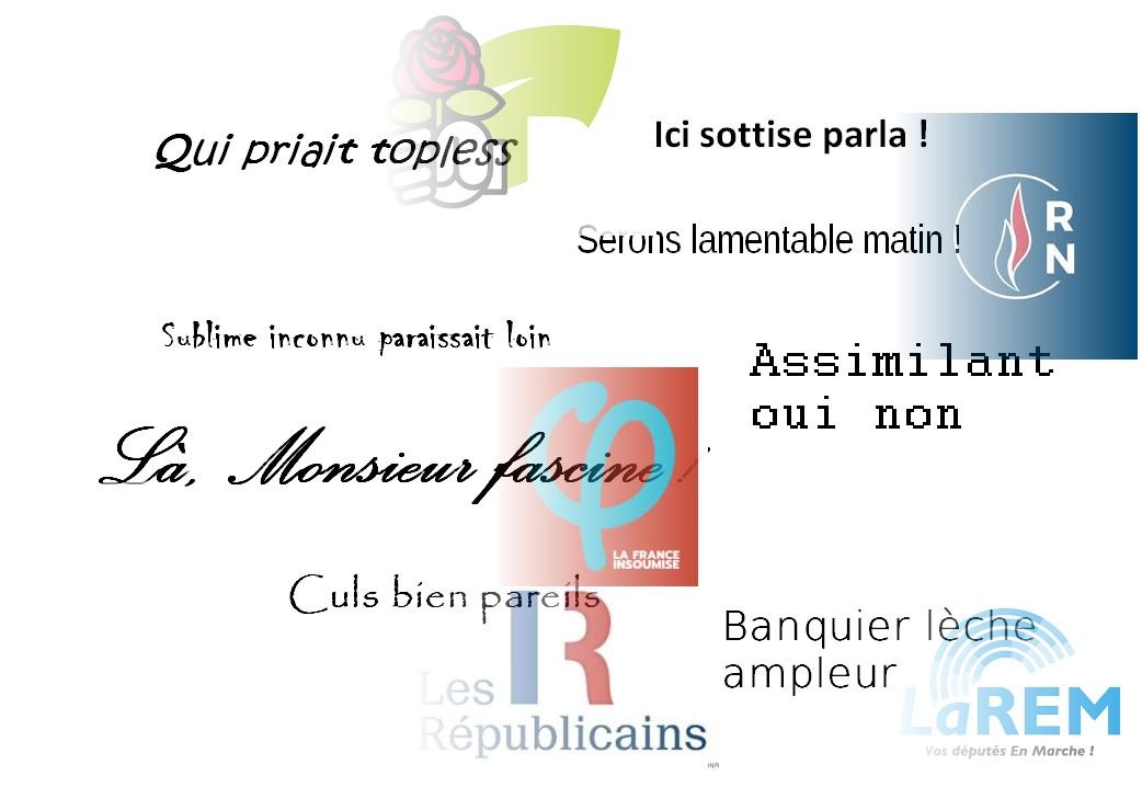anagrammes partis politiques